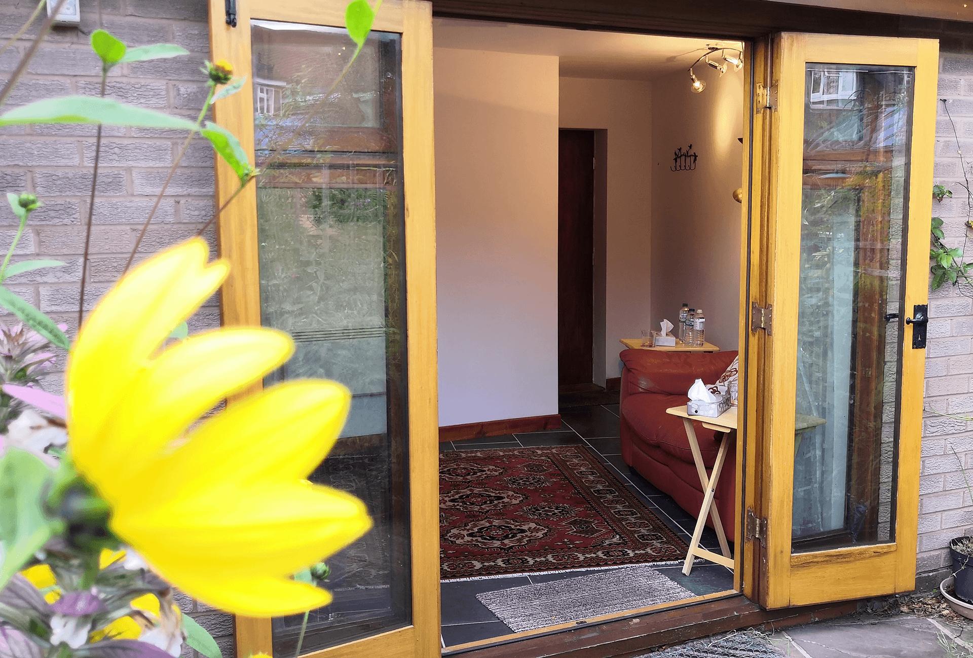 Outside the summer house
